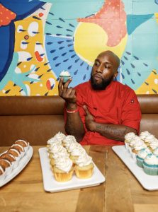 Chef Fresh with his cupcakes